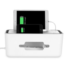 Iphone Organizer Case Australia - ORICO Universal Management Power Socket Storage Box Case Cable Organizer with Brackets