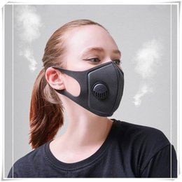 Respirator Masks Australia - Anti-smog Sponge Face Mask PM2.5 Anti-dust Anti-fog Respirator For Cycling MTB 3.0 Respiratory Valve