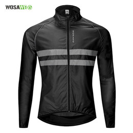 Discount windproof clothing - Cycling Windbreaker High Visibility Bicycle Jersey Road MTB Rain Coat Reflective Cycle Clothing Windproof Waterproof Bik