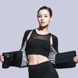 $enCountryForm.capitalKeyWord NZ - Weight Lost Sportswear Silver Coating Sauna Suit Fitness Top Speed Up Sweating Gym Leggings Fit Body Building Suit Slim Yoga Set