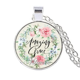 $enCountryForm.capitalKeyWord UK - 2019 New Bible Scripture Necklace Glass Dome Pendant Necklace Gives Christians Inspirational Gifts 3 Colors Optional