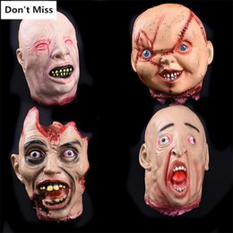 horror dolls NZ - Scary Accessories Realistic Latex Ghost Head Halloween Decoration Horror Ornaments Baby Doll Heads Bloody Props Party Supplies