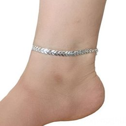 pearl stores NZ - 5KTEF E023 Korean-style gold and silver 2 fish scales geometric anklets exquisite arrow anklets foot ornaments physical store Ornament sequi