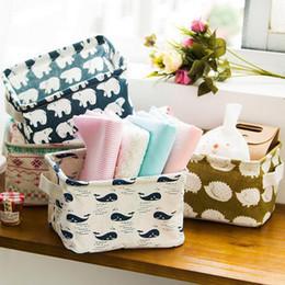$enCountryForm.capitalKeyWord Australia - Desk Storage Box Organizer Cabinet Underwear Holder Cosmetic Stationery Pastoral Floral Animal Creative Fabric Washing