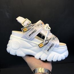 $enCountryForm.capitalKeyWord Australia - 2019 Summer Chunky Sandals Women 8cm Wedge High Heels Shoes Female Buckle Platform Leather Casual Summer Slippers Woman Sandal Y190706