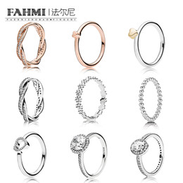 puzzle rose Canada - FAHMI 100% 925 sterling silver ROSE BRAIDED RING ROSE PUZZLE HEART RING BASIC BUBBLE SILVER RINGS LOVE ETERNAL BRAIDED