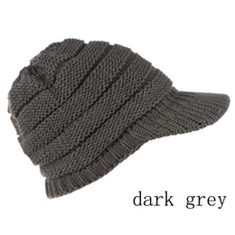 dark blue black hair dye 2019 - New Pattern No Bring Cc Hair Ball Hats Autumn And Winter Brim Of A Hat Knitting Hat Outdoors Brim Of A Hat Keep Warm Hat