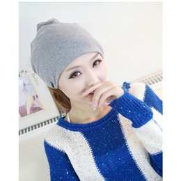 Scarf Shops Australia - Free shopping 2017 fashion Autumn and winter hats for women beanies muffler scarf dual-use hat covering hip-hop cap turban