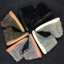 bd32de3071c venta caliente 750 Zapatillas Gris Claro Marrón Triple Negro Gris Kanye  West Botas de cuero Zapatos de baloncesto deportivo para mujeres de los  hombres ...