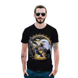 43e6075d Summer Running T-shirts Wolf Owl Print Tee Shirt Homme Men Women Plus Size  Summer Eagle Hawk Shirt 3d Eagle Lion