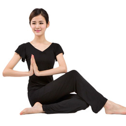 Fitness Clothing For Women UK - Women Sportswear Yoga Set Breathable Fitness Clothes Sports Suit For Women Yoga Fitness Clothing Ruffle Sleeve Shirt #980717