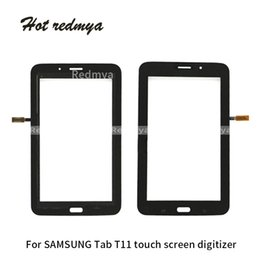$enCountryForm.capitalKeyWord Australia - Touch Screen Digitizer Outer Glass Sensor For Samsung Galaxy Tab 3 Lite 7.0 WiFi Version T110 3G Version T111 Tablet White Black