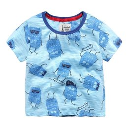 $enCountryForm.capitalKeyWord Australia - 2019 Summer Children Boys T-shirts 100% Cotton Short-sleeve Cartoon Printed Boys Tops 1-6 Years Kids Tees Baby Boys Clothes