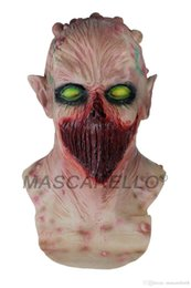 full face alien mask Australia - Alien Head Latex Costume Masquerade Face Zombie Mask Halloween Party Dress Toys