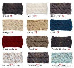 Bandeaux tricotés cache-oreilles femmes oreilles d'hiver oreilles plus chaudes bandeaux Tricotés Turban serre-tête Crochet bandeau cheveux Accessoires mk0894