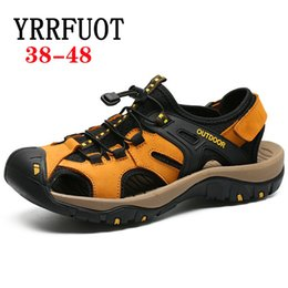 Quality Beach Wraps Australia - YRRFUOT High Quality Fashion Leisure Shoes Summer New Men's Sandals 2019 Light Comfortable Outdoor Fisherman Sandals Beach Shoes