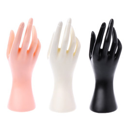ring holder hand display NZ - 2pcs Mannequin Hand Finger Glove Ring Bracelet Bangle Jewelry Display Stand Holder 23cmx23cm