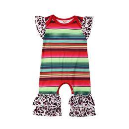 $enCountryForm.capitalKeyWord Australia - Cute Newborn Toddler Baby Girls Clothes Romper Rainbow Leopard Print Romper Ruffle Girls Jumpsuit Outfits Cotton Infant Clothing
