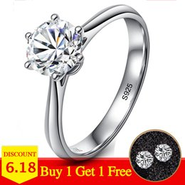 $enCountryForm.capitalKeyWord NZ - Not Fake Yes I Do Classic Simple 1 Carat Dream Proposal Ring S925 Sterling Silver Diamond 925 Women Solitaire Round Cut 6 Claws J190704