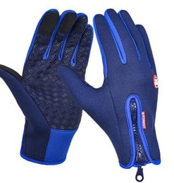 normal mobile phone 2019 - New Bicycle Gloves Anti-skid touch control Men And Women Fleece Gloves Mobile Phone Touch Screen Gloves Outdoor Sports R