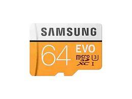 Toptan satış MicroSDXC EVO (sarı) Hafıza Kartı w / Adaptör 32 GB 64 GB 128 GB 256 GB 100 MB / sn'ye kadar Aktarma hızı 4K için mükemmel performans