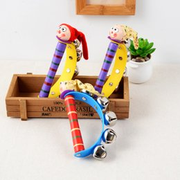 Baby Musical Cartoon Rattles Wooden Australia - 2018 New Arrival Wooden Shaking Handbell Rattle Sound Toy Musical Instrument Gift for Baby Kid Child Toys For Fun