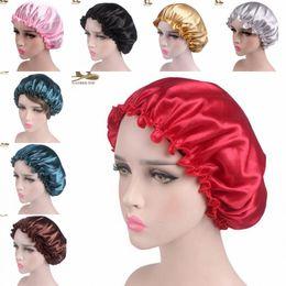 $enCountryForm.capitalKeyWord Australia - Hot Muslim Women Stretch Sleep Turban Hat Scarf Silky Bonnet Chemo Beanies Caps Cancer Headwear Head Wrap Hair Loss Accessories