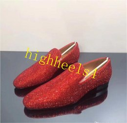 $enCountryForm.capitalKeyWord Australia - Luxury Designer Crystals Mens Red Bottom Loafers Shoes Dress Wedding Casual Walk Shoes Office Work Made in Italy Oxford Shoes