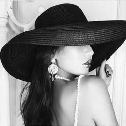 f2effc6c5cb Women Sun Hats Wide Brim beach hat Summer Autumn Straw Hats Natural  Black White fashion Floppy Beach Boater Hat Cap Kentucky Derby Hats