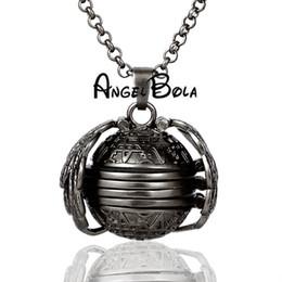 $enCountryForm.capitalKeyWord Australia - Gun black glossy magic Memory photo Locket pendant necklace jewelry gift for women