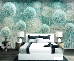 abstract vintage wallpaper Canada - Custom wallpaper home decor mural European retro abstract dandelion TV background walls 3d wallpaper papel de parede