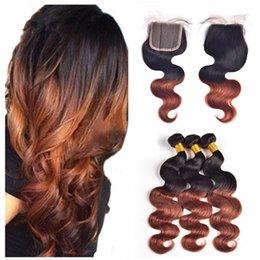 $enCountryForm.capitalKeyWord Australia - Body Wave Dark Brown Hair Weaves With Lace Closure 1b 33 Auburn Hair Bundles With Lace Closure Free Part Virgin Brazilian Ombre Hair