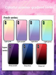 $enCountryForm.capitalKeyWord Australia - For iphone xs max phone case aurora gradient color tempered glass phone back cover Support 2PCS delivery