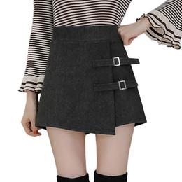 de48a257d4 Plus size Pleated wool skirts online shopping - 2019 High Waist Wool Shorts  Women Autumn Winter