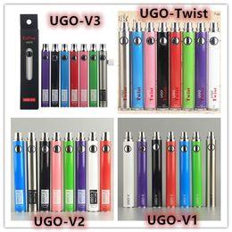 Original egO twist batteries online shopping - Original EcPow UGO Series V1 V2 V3 Twist VV mah mah Variable Voltage Thread Battery Preheat Vape Pen Ego Evod