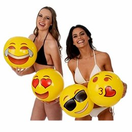 kids inflatables for pools UK - Inflatable Beach Balls Summer Party Water Inflatable Kids Toys Balls Adult Fun Pool Toys Ball For Children ZZA422