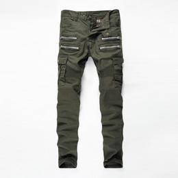 Wholesale size 38 slim fit jeans resale online – designer Mens Jeans New Fashion Mens Retro Biker Jeans Slim Fit Straight Vintage Motorcycle Denim Trousers For Male Size