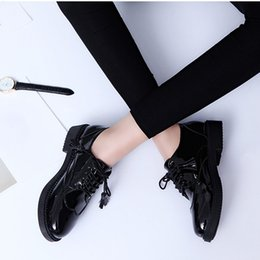 flat oxfords new style women 2019 - Women Flats New British Style Oxford Shoes Women Spring Soft Leather Casual Shoes Retro Tassel Lace Up Women Flat Shoes