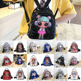 $enCountryForm.capitalKeyWord NZ - Free DHL 2020 Girls Kids Shiny School Backpack 24 Styles Fashion Sequin Doll Bags Glitter Cartoon Backpacks Women Christmas Gift M132F