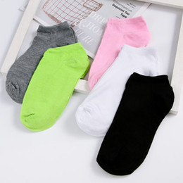 $enCountryForm.capitalKeyWord NZ - Fashion Candy Color Women Lady Ankle Boat Low Cut Socks 5 colors Crew Casual Soft Sock women clothing accessories