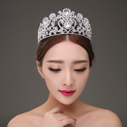 $enCountryForm.capitalKeyWord NZ - Heart Shape Crystal Classic Style Bridal Crown Big Tiara Wedding Hair Accessories J 190430