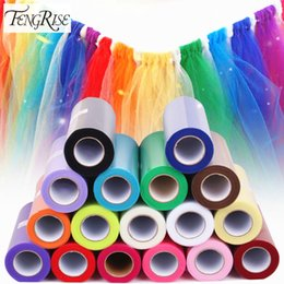 $enCountryForm.capitalKeyWord Australia - FENGRISE Tulle Roll 15cm 25 Yards Wedding Party Decoration DIY Tutu Fabric Decorative Crafts Christmas Kids Queen Skirts