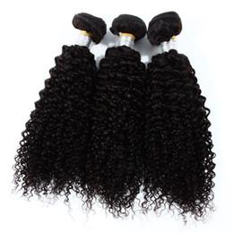 $enCountryForm.capitalKeyWord NZ - In stock 7A kinky curly human hair extensions cheap price natural black Brazilian hair wefts no shedding 3pcs bag
