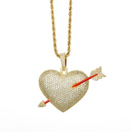 hipster necklaces 2019 - 2018 New Unisex necklace Cartoon Heart piercing shape hip hop jewelry Inlaid Zircon Hipster personality Exquisite Pendan