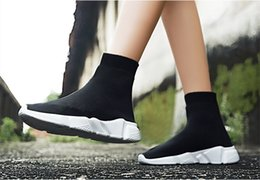 $enCountryForm.capitalKeyWord Australia - 2018 HOT NEW Speed Sock High Quality Speed Trainer Shoes for Men and Women Shoes Speed Stretch-knit Shoes Mid Sneakers Size Eur 36-45