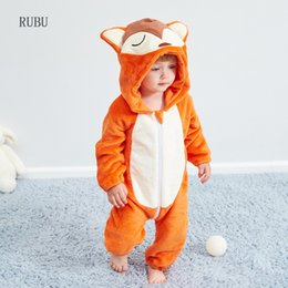 $enCountryForm.capitalKeyWord Australia - Winter Baby Rompers Fox Boys Girls Clothes New Born Baby Jumpsuit Toddler Winter Hooded Animal Pajamas Bebe Romper Baby Costume J190524