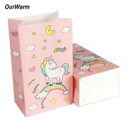 $enCountryForm.capitalKeyWord UK - Gift Bags & Wrapping Supplies OurWarm 120pcs Pink Candy Bag for Unicorn Party Paper Gift Bags Baby Shower Birthday Wedding Candy Box