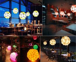 Pendant Light Ceiling Diy Australia - Multi-Color 25cm 30cm 40cm Modern DIY Elements IQ Jigsaw Puzzle ZE Ceiling Chandelier Pendant Lamp Ball Light Lighting 110-240V