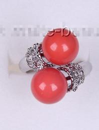 $enCountryForm.capitalKeyWord Australia - Prett Lovely Wedding stunning big 10mm round pink south sea shell pearl ring rings for women silver-jewelry