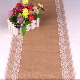 $enCountryForm.capitalKeyWord Australia - Vintage Natural Burlap Jute Linen Table Runner 2019 Christmas Wedding Party Champagne Table Runners Dining Room Restaurant